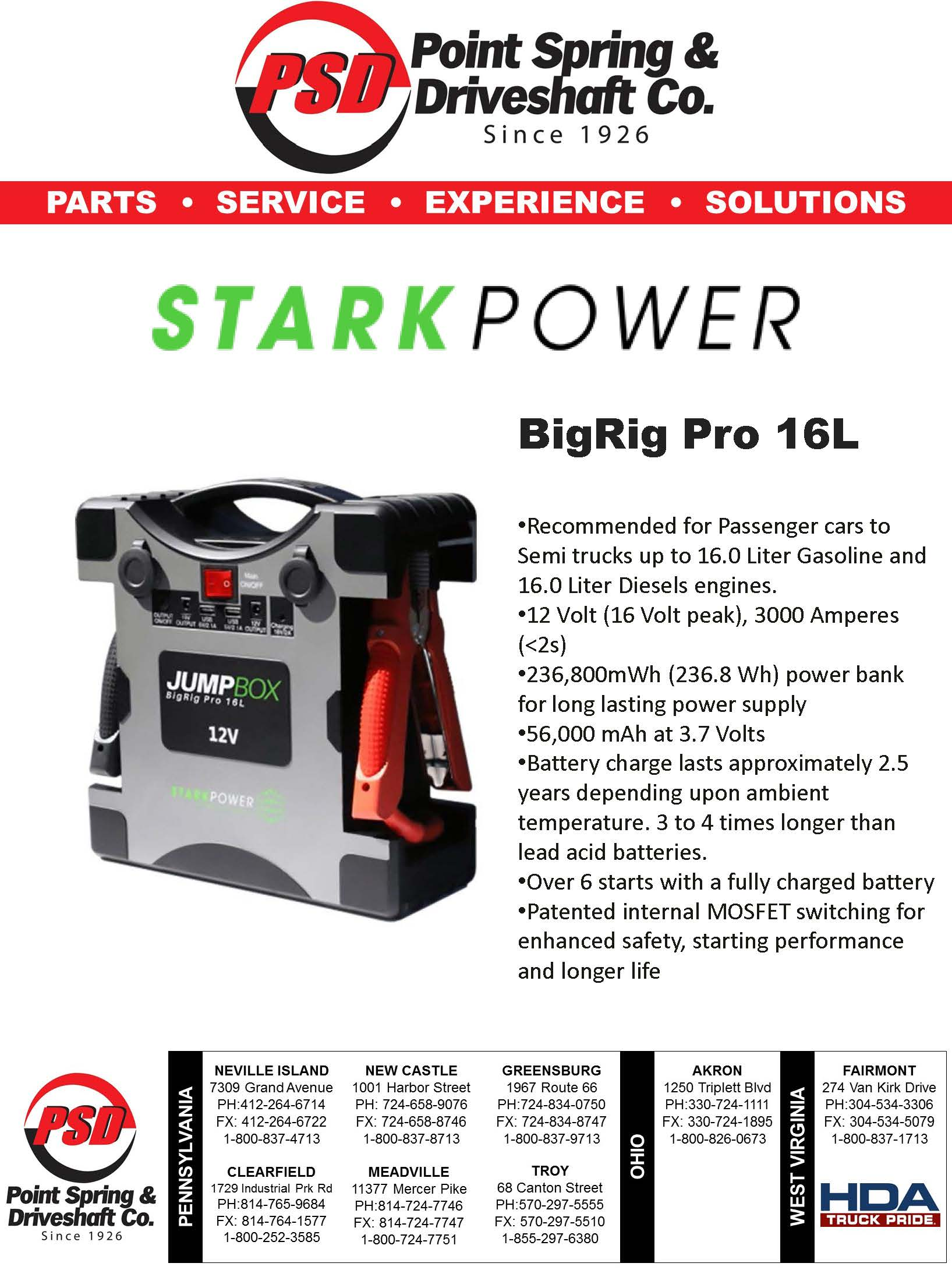 Stark Power Big Rig Pro no price