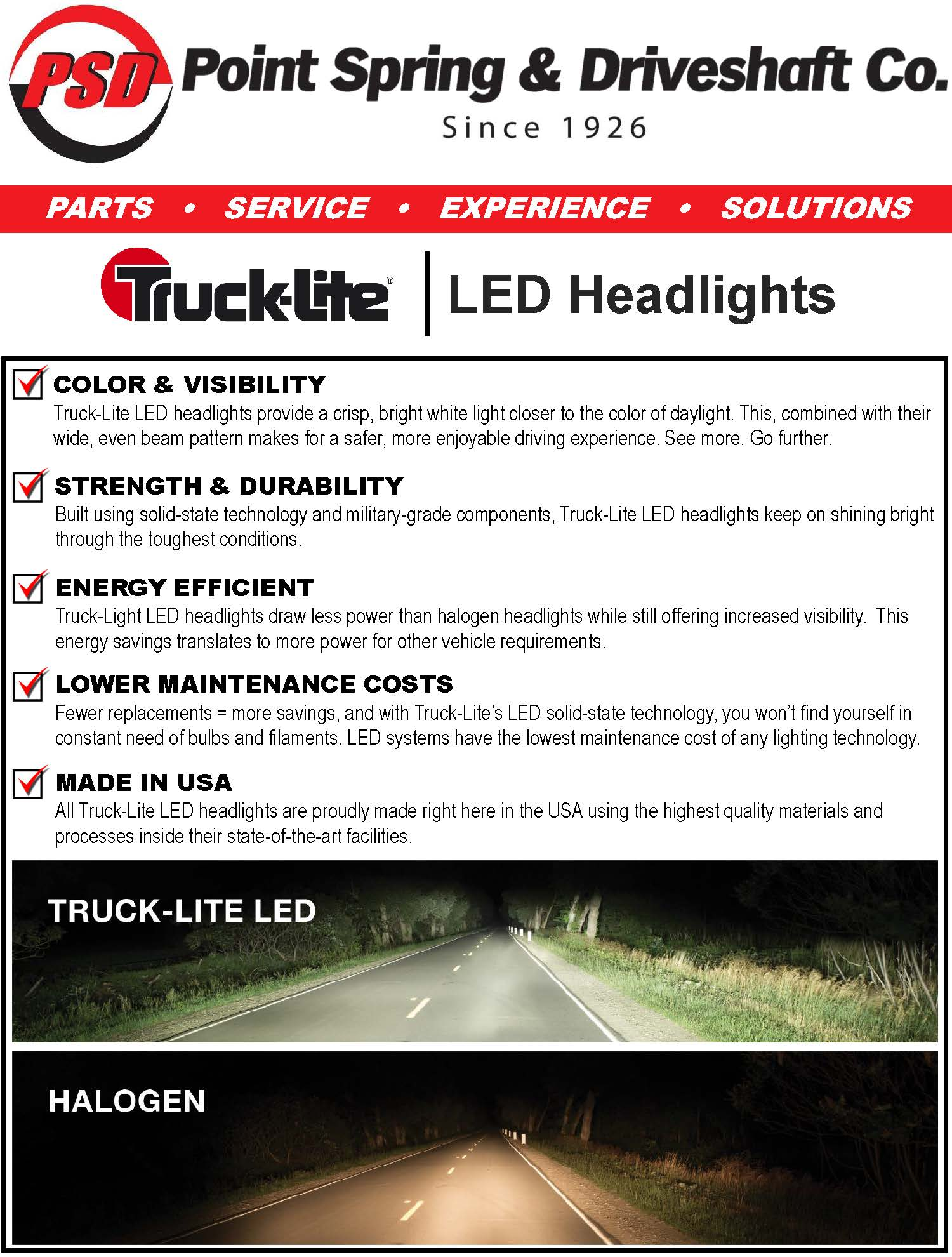 Truck Lite LED Headlight flyer Page 1
